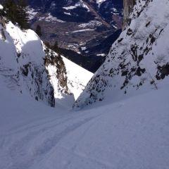 couloir skiing Chamonix