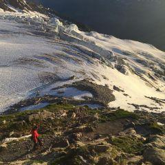 Ochtendlicht over de Glacier du Tour